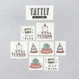 Tattly Set Birthday Tattoos