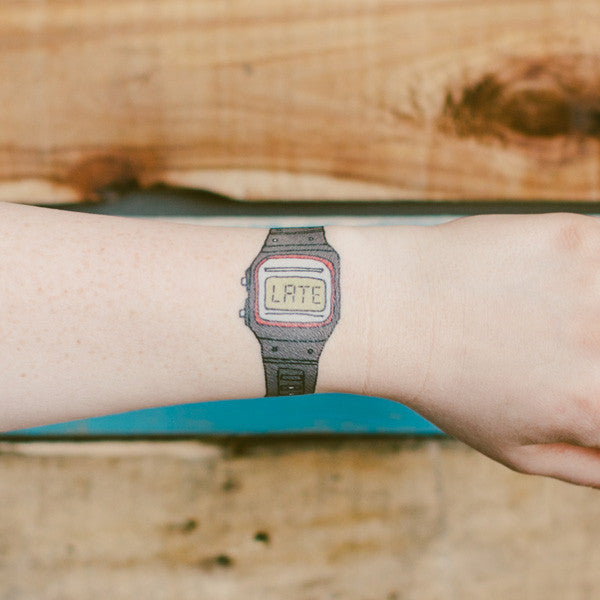 Tattly You're Late Tattoo