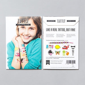 Tattly Set Kids Mix Two Tattoos