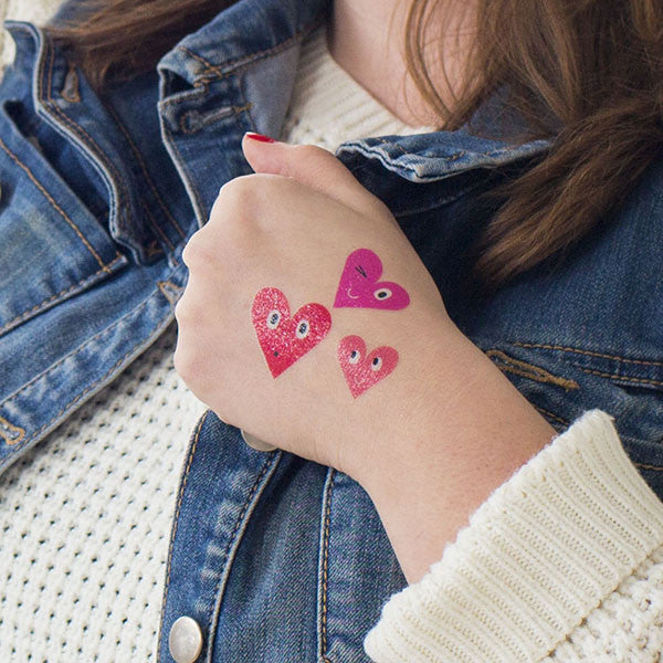 Tattly Three Hearts Tattoo