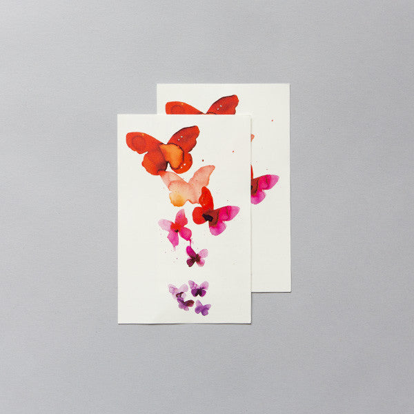 Tattly Coral Butterflies Tattoo
