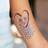 Tattly Stitched Broken Heart Tattoo