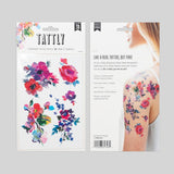 Tattly Sheet Watercolor Florals Tattoos