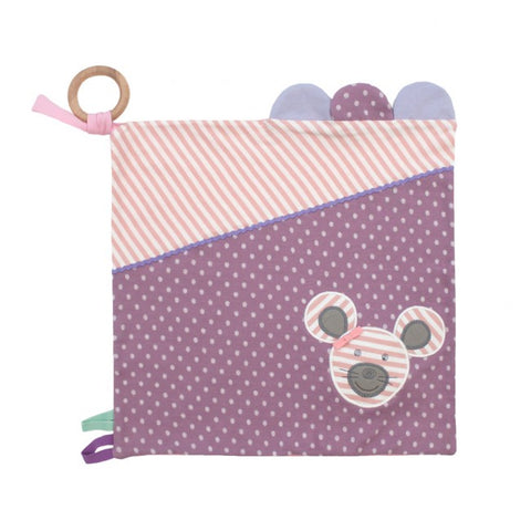 Apple Park Organic Farm Buddies Activity Blankie - Ballerina Mouse