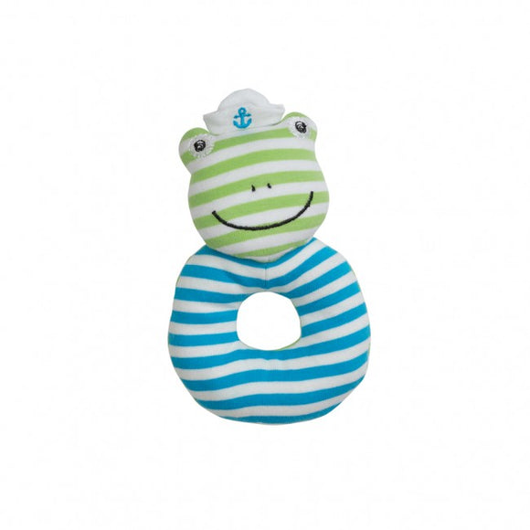 Apple Park Organic Farm Buddies Rattle – Skippy the Frog