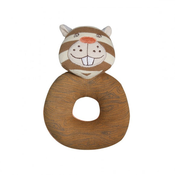 Apple Park Organic Farm Buddies Rattle – Buster Beaver