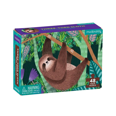 Mudpuppy Mini Puzzle Three-Toed Sloth