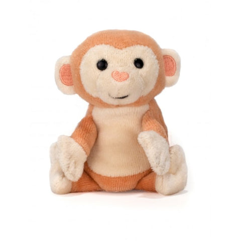 Apple Park Organic Cotton Finger Puppet – Monkey