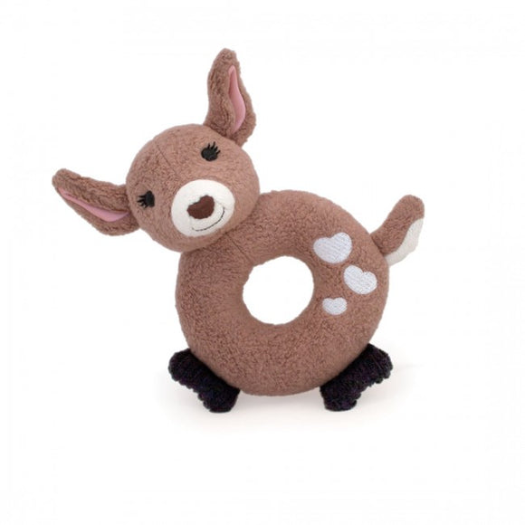 Apple Park Organic Teething Rattle – Fawn