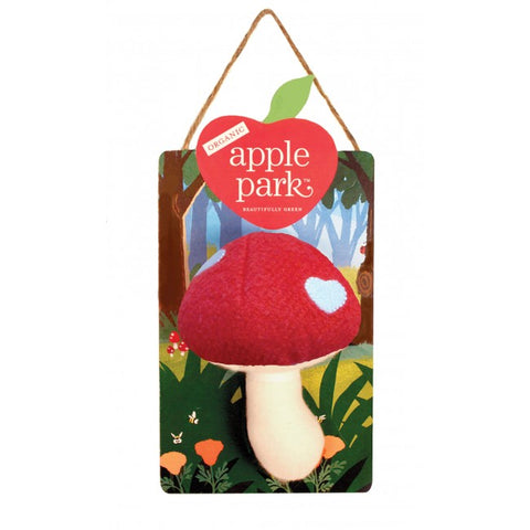 Apple Park Organic Cotton Woodland Mushroom Rattle