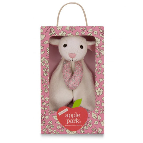 Apple Park Organic Cotton Patterned Blankie – Lamby