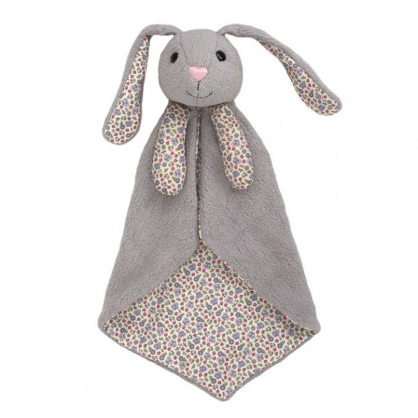 Apple Park Organic Cotton Patterned Blankie – Bunny