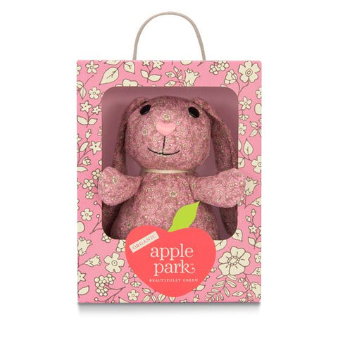 Apple Park Organic Patterned Plush Bunny
