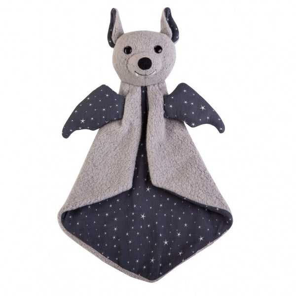 Apple Park Organic Cotton Patterned Blankie – Bat