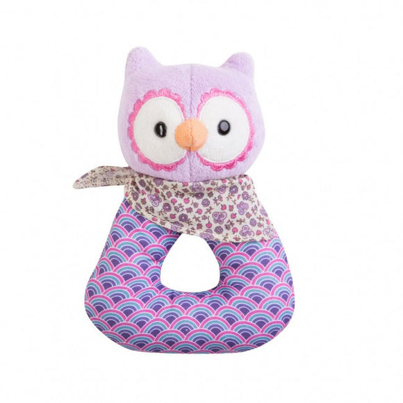 Apple Park Organic Patterned Rattle – Purple Owl