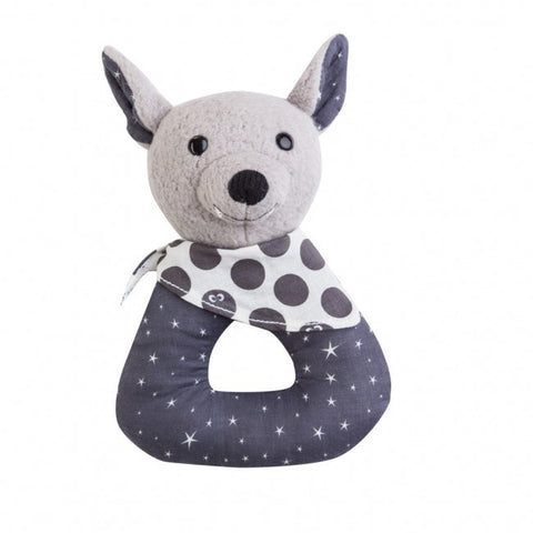Apple Park Organic Patterned Rattle – Bat