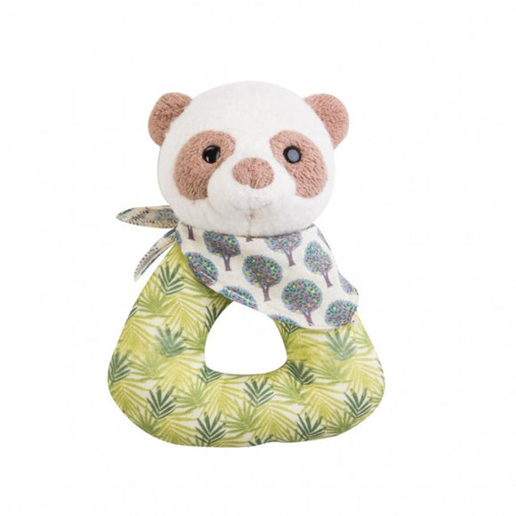 Apple Park Organic Patterned Rattle – Panda