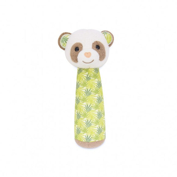 Apple Park Organic Cotton Squeaker Rattle – Panda