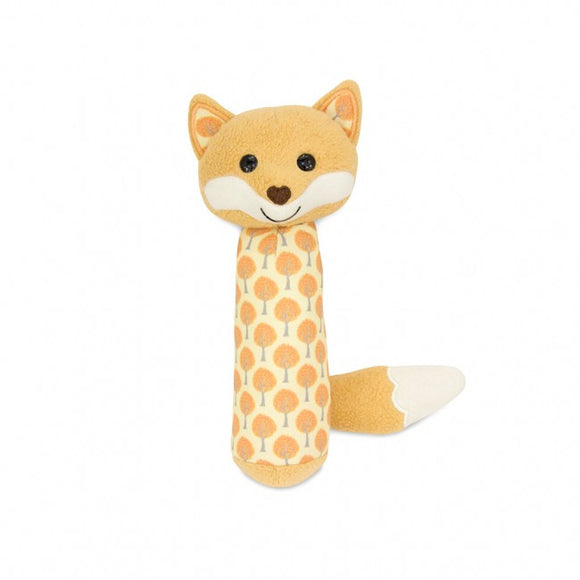 Apple Park Organic Cotton Squeaker Rattle – Fox