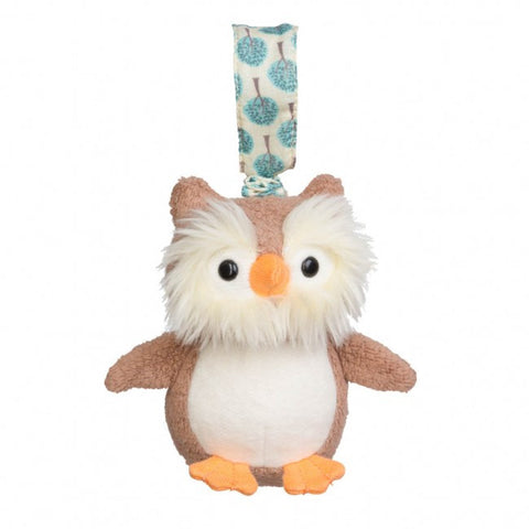 Apple Park Organic Cotton Stroller Toy – Owl