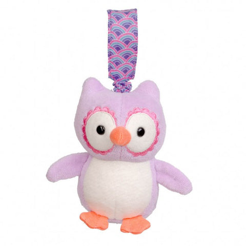 Apple Park Organic Cotton Stroller Toy – Purple Owl