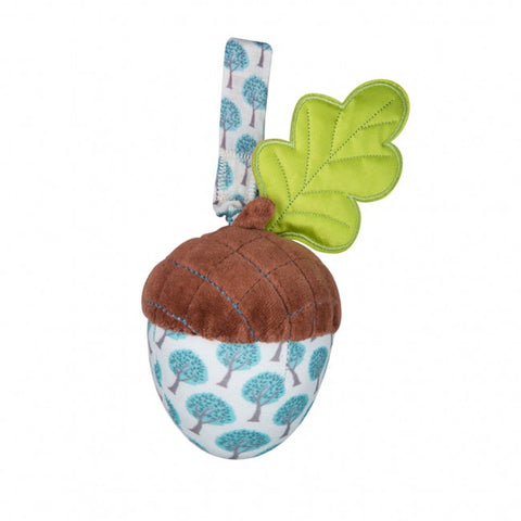 Apple Park Organic Cotton Stroller Toy – Acorn Blue Forest