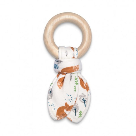 Apple Park Organic Fabric Teething Toy - Arctic Fox Boy