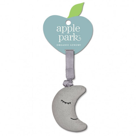 Apple Park Organic Cotton Jiggling Stroller Toy – Moon