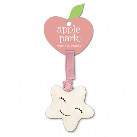 Apple Park Organic Cotton Jiggling Stroller Toy – Star