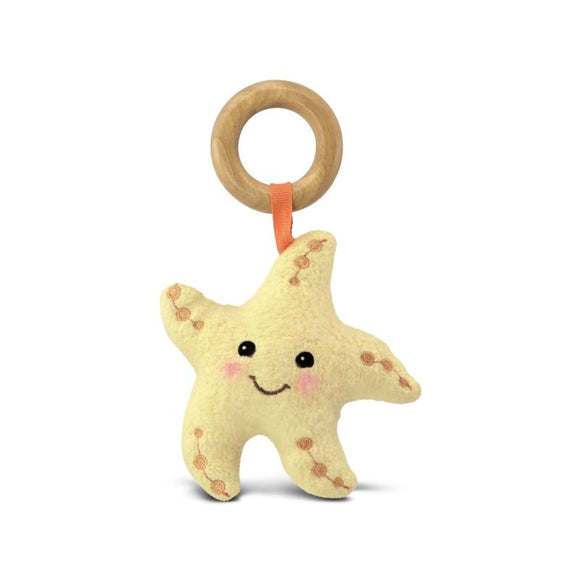 Apple Park Organic Plush Teething Toy - Starfish