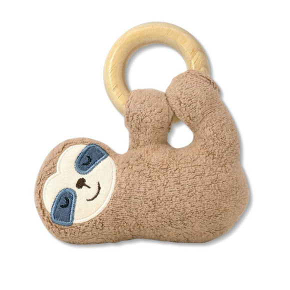 Apple Park Organic Plush Teething Toy - Sloth