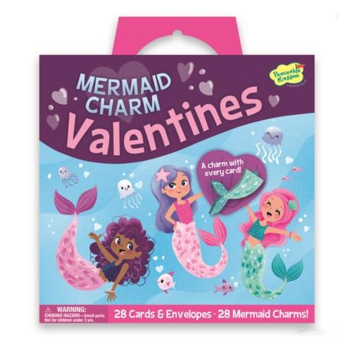 Peaceable Kingdom Mermaid Charm Valentines