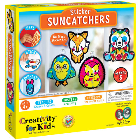 Creativity for Kids: Sticker Suncatchers