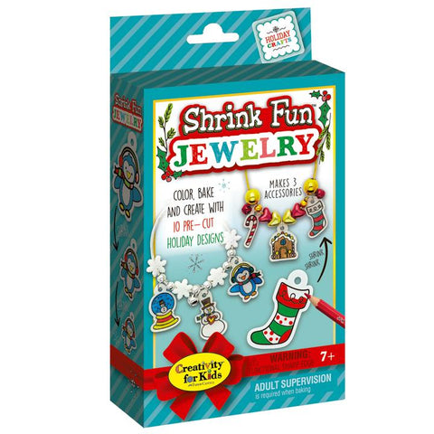 Creativity for Kids: Holiday Shrink Fun Jewelry
