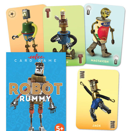 eeBoo Card Game Robot Rummy