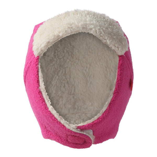 Zutano Baby Cozie Fleece Furry Trapper Hat Fuchsia