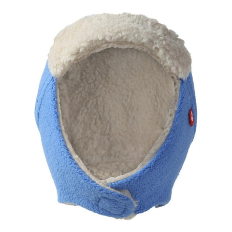 Zutano Baby Cozie Fleece Furry Trapper Hat Periwinkle
