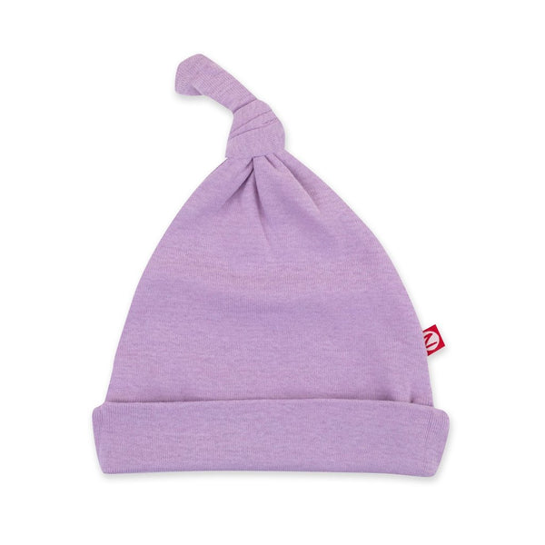 Zutano Baby Solid Rib Knot Hat Lilac