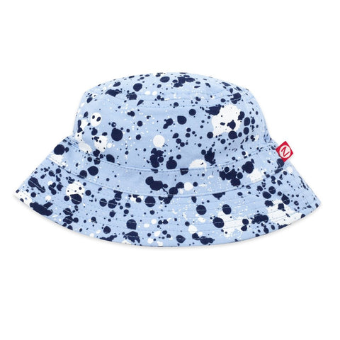 Zutano Baby Bucket Sun Hat Splatter Paint Light Blue