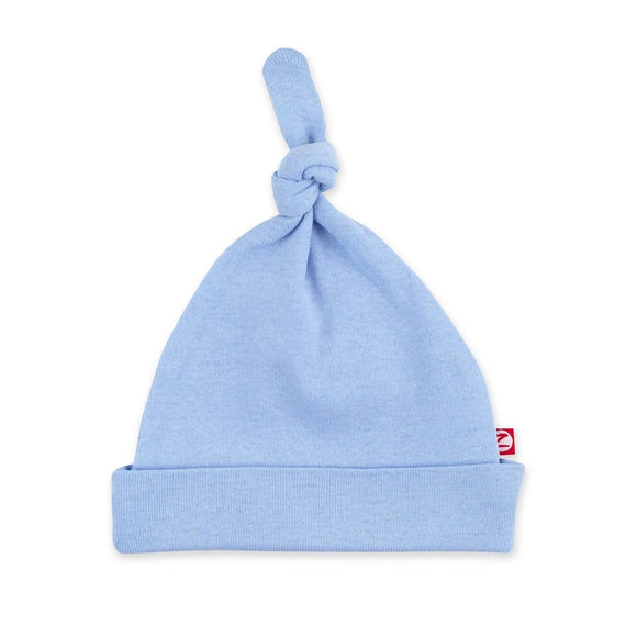 Zutano Baby Solid Rib Knot Hat Light Blue