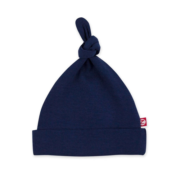 Zutano Baby Solid Rib Knot Hat True Navy