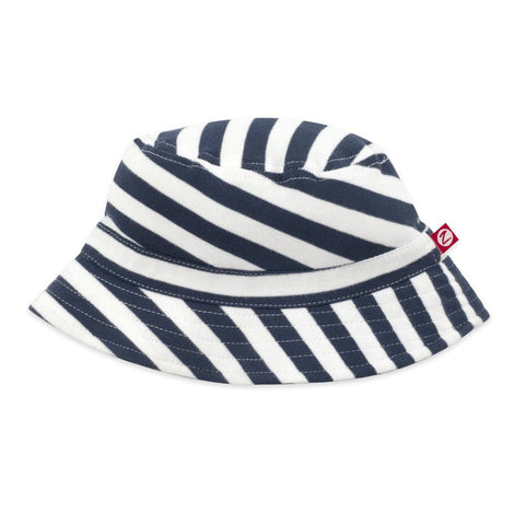 Zutano Baby Bucket Sun Hat Navy and White Stripe