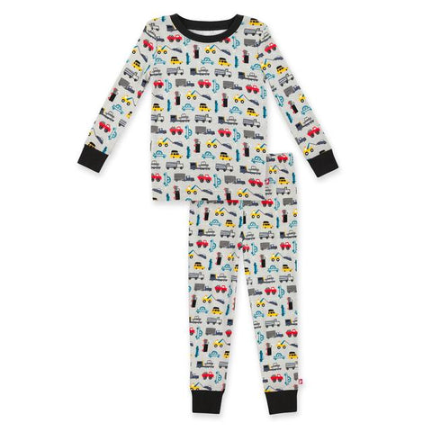 Zutano Baby Organic Pajama Set Traffic