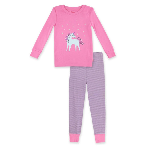 Zutano Baby Organic Pajama Set Unicorn Screen