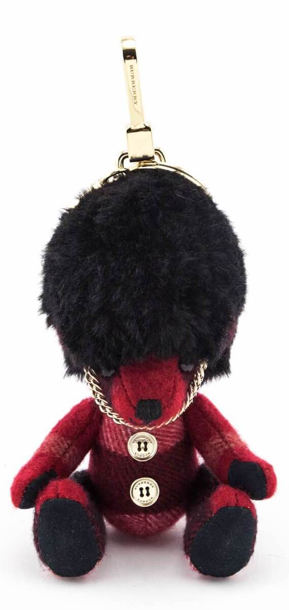 Burberry Red Check Cashmere Thomas Busby Bear Charm