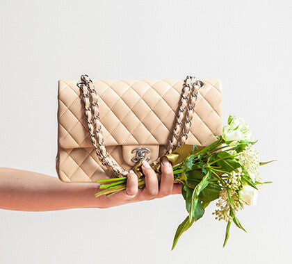 Beige Chanel Flap Bag perfect for summer
