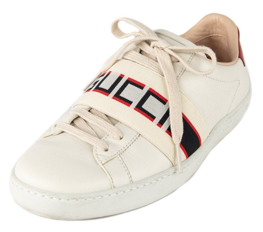 Gucci White Leather Ace Low Top Sneaker Size 6 | EU 36