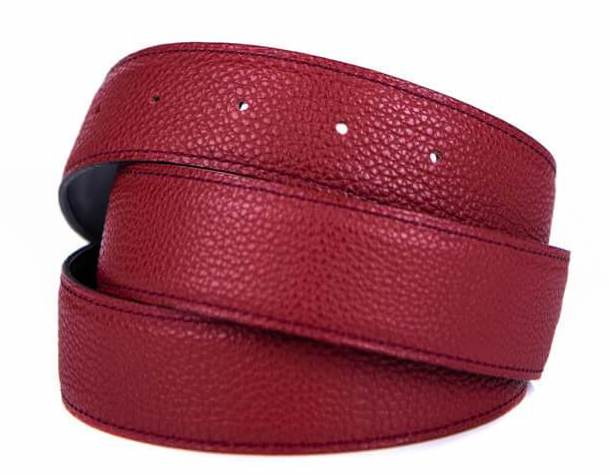 Hermes Red or Brown Clemence Leather Belt Strap Size M
