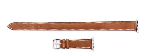 Hermes x Apple Fawn Barenia Double Tour Attelage Watch Band 40 mm