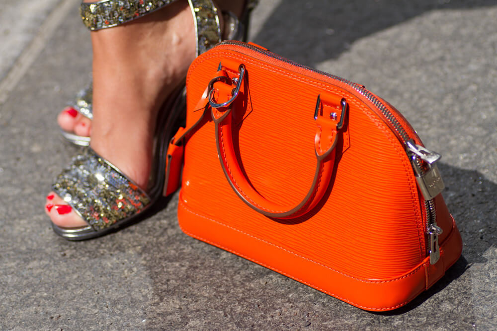 Louis Vuitton Piment Orange Epi Alma BB